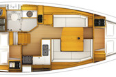 37 ft. Jeanneau 379 Motorsailer Boat Rental Miami Image 2