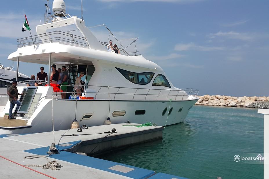 Rent a Al wasmi 80 ft motor yacht in dubai, إمارة دبيّ near me