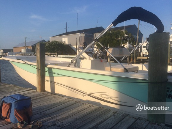 Rent a Carolina Skiff center console in Atlantic Beach, NC near me