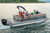 21 ft. Sun Tracker by Tracker Marine Party Barge 20 DLX Signature w/75ELPT 4-S Pontoon Boat Rental Miami Image 2