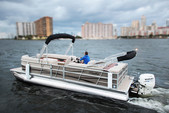 "22 ft. 24"" Bentley Pontoon Boat Pontoon Boat Rental Miami Image 12"