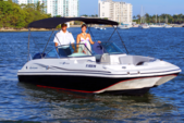 19 ft. Hurricane Boats SD 187 Deck Boat Boat Rental Miami Image 1