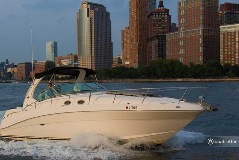 Rent a Sea Ray Boats express cruiser in Jersey City, NJ near me