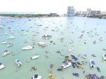40 ft. Corinthian Pontoon Pontoon Boat Rental Miami Image 15