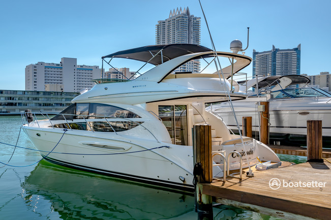 Rent a Meridian Yachts flybridge in Miami Beach, FL near me