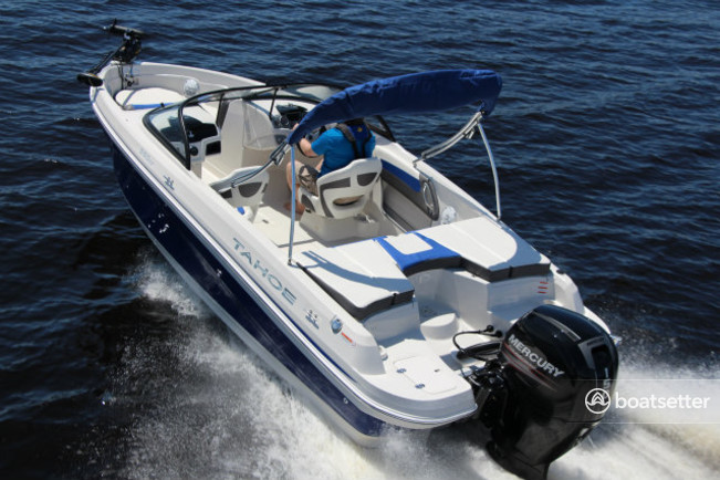 Rent a Tahoe by Tracker Marine fish and ski in Seabrook, TX near me