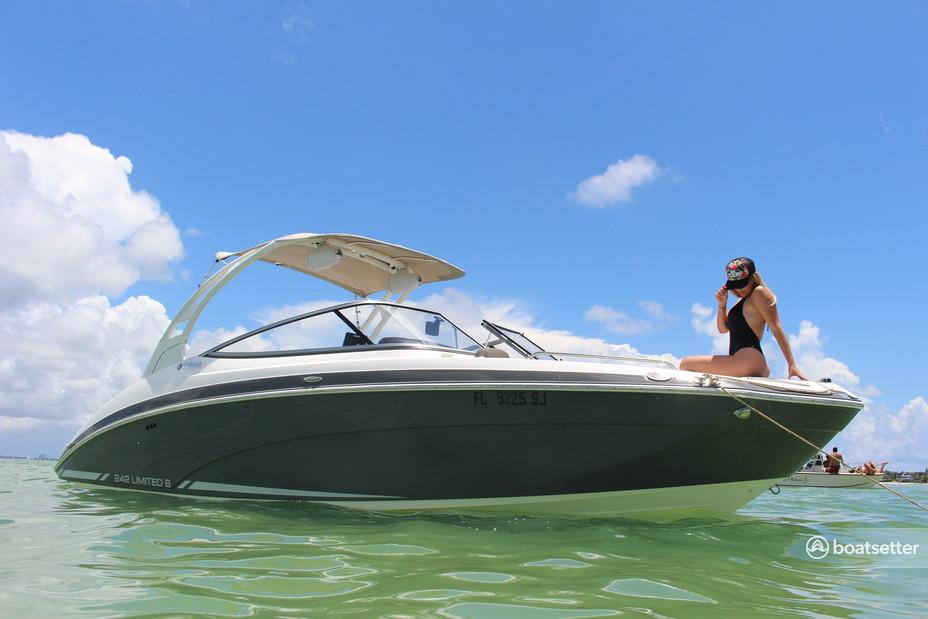 Rent a Yamaha jet boat in Key Biscayne, FL near me