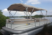 26 ft. Sun Tracker by Tracker Marine Party Barge 24 XP3 w/150ELPT 4-S Cruiser Boat Rental Tampa Image 1
