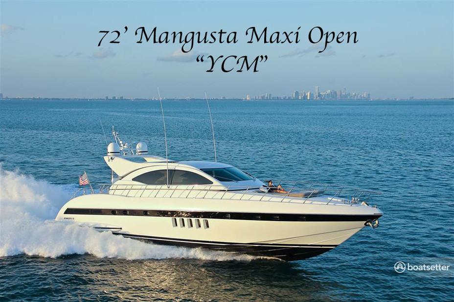 Rent a Mangusta motor yacht in Miami, FL near me