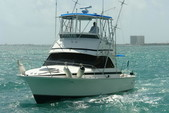 34 ft. Bertram Flybridge Cruiser Offshore Sport Fishing Boat Rental Cancún Image 2