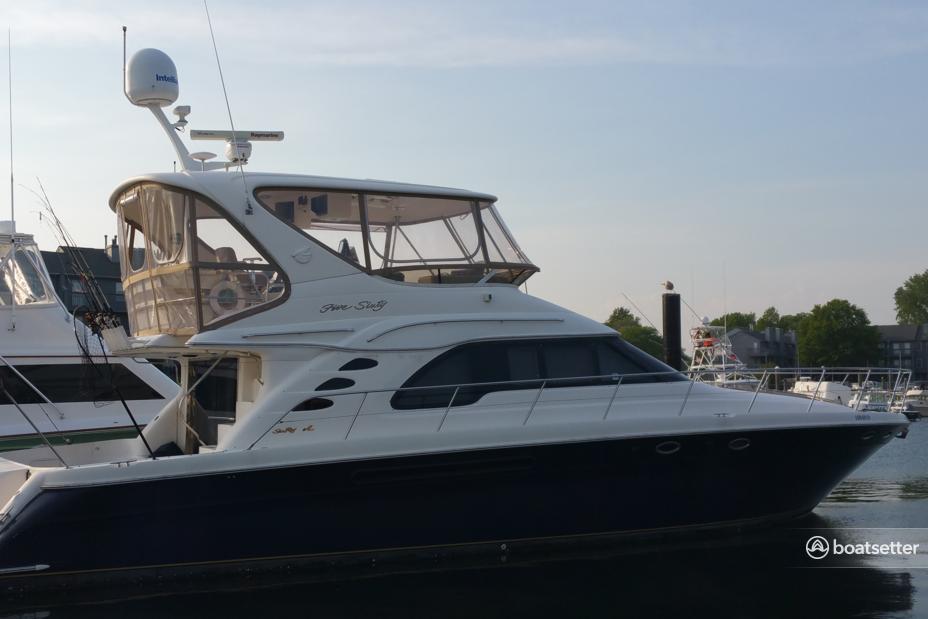 Rent a Sea Ray motor yacht in Belmar, NJ near me