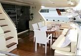 76 ft. Ferretti 550 Flybridge Motor Yacht Boat Rental Mikonos Image 1
