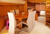 76 ft. Ferretti 550 Flybridge Motor Yacht Boat Rental Mikonos Image 2