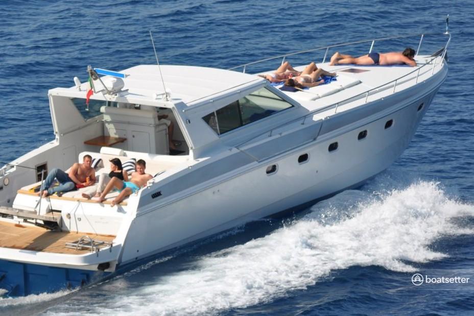 Rent a Ferretti motor yacht in Amalfi, Campania near me