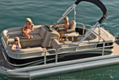 21 ft. Sun Tracker 21 Party Barge Pontoon Boat Rental Miami Image 3