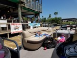 22 ft. Sun Tracker by Tracker Marine Party Barge 20 DLX w/90ELPT 4-S Pontoon Boat Rental N Texas Gulf Coast Image 1