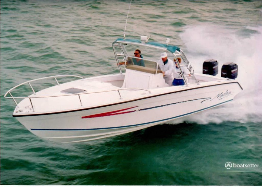 Rent a Marlago by Jefferson Yachts center console in Boston, MA near me