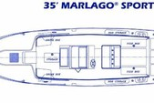 35 ft. Marlago by Jefferson Yachts FS35 Center Console Boat Rental Boston Image 1