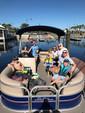 20 ft. Sun Tracker by Tracker Marine Party Barge 18 DLX w/60ELPT 4-S Pontoon Boat Rental Orlando-Lakeland Image 1
