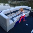 24 ft. Harris FloteBote 240A Pontoon Boat Rental Charlotte Image 18
