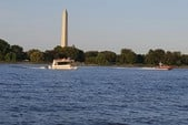 30 ft. Catamaran Cruiser 8x30 Lil Hobo Deluxe Houseboat Boat Rental Washington DC Image 1
