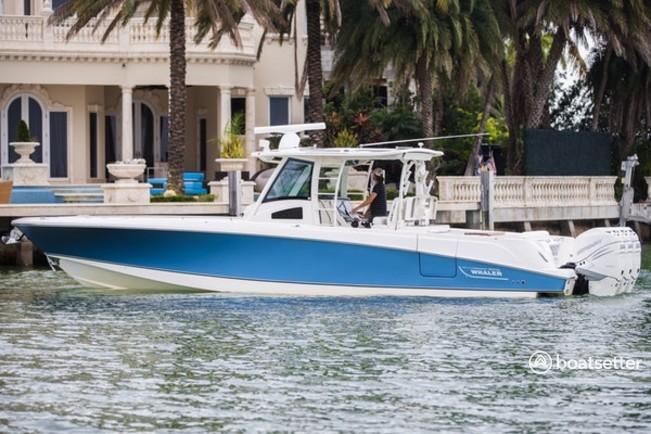 Rent a Boston Whaler center console in Miami Beach, FL near me