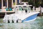38 ft. Boston Whaler 370 Outrage w/3-300L6 Verado Joystick Center Console Boat Rental Miami Image 1