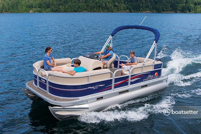 Sun Tracker Pontoon Boats >> Rent A 2017 18 Ft Sun Tracker By Tracker Marine Bass Buggy 18 Dlx W 60elpt 4 S In Athens Tx On Boatsetter