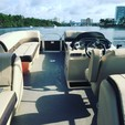 22 ft. Sun Tracker by Tracker Marine Party Barge 22 XP3 w/150ELPT 4-S Pontoon Boat Rental Miami Image 4