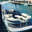 22 ft. Sun Tracker by Tracker Marine Party Barge 22 XP3 w/150ELPT 4-S Pontoon Boat Rental Miami Image 9