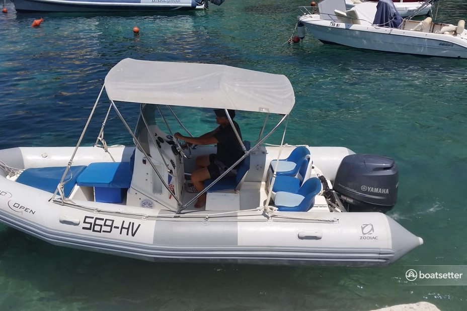 Rent a Zodiac of North America inflatable outboard in Hvar, null near me