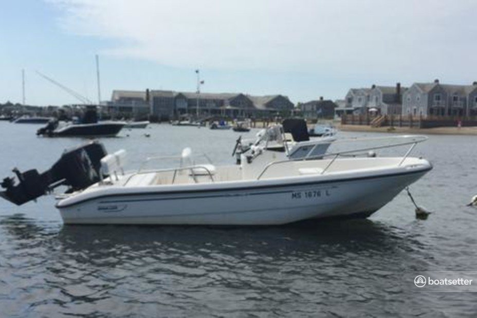 Rent a Boston Whaler center console in Nantucket, MA near me