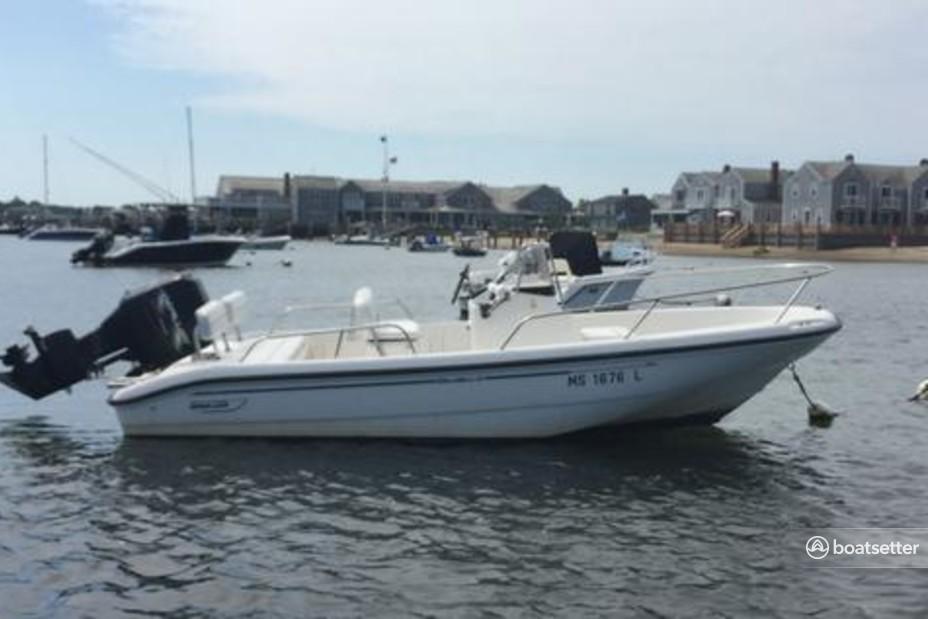 Rent a Boston Whaler center console in Nantucket, MA near me