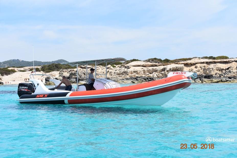 Rent a Sacs rigid inflatable in Eivissa, Illes Balears, PM near me