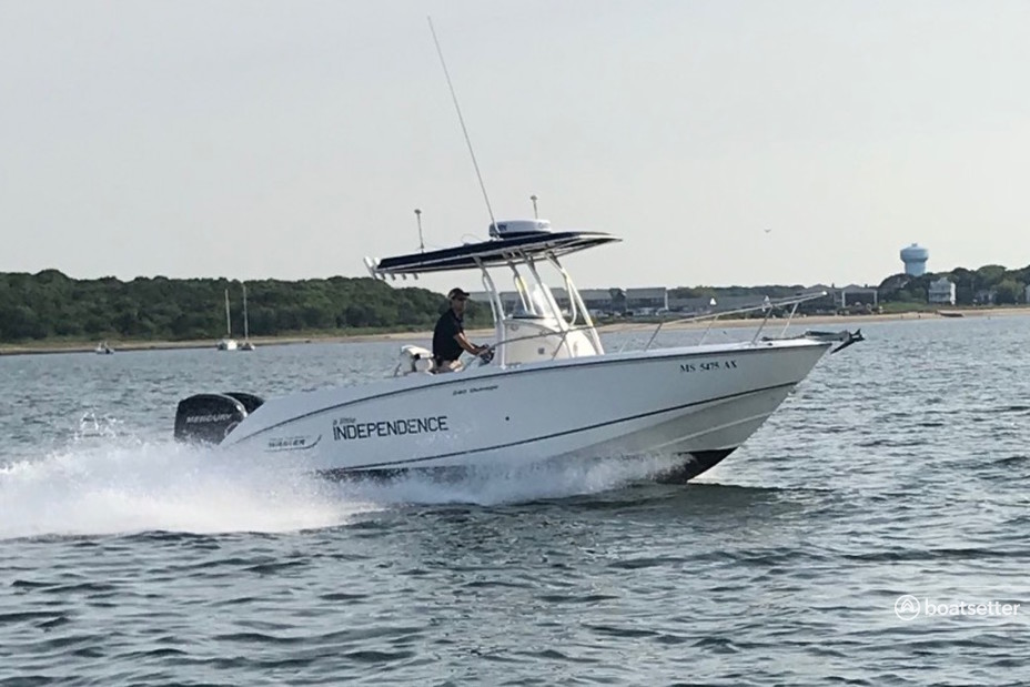 Rent a Boston Whaler center console in Barnstable, MA near me