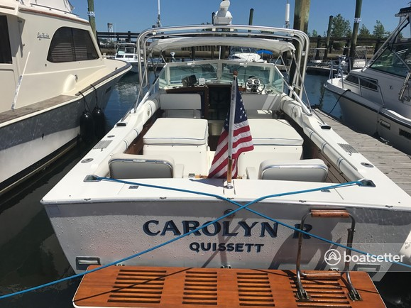 Rent a Bertram Yacht cruiser in Boston, MA near me