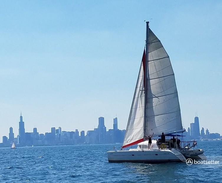Rent a Lagoon Boats catamaran in Chicago, IL near me
