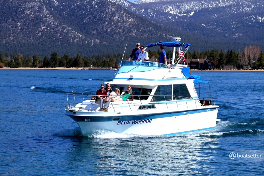 Rent a Uniflite motor yacht in South Lake Tahoe, CA near me