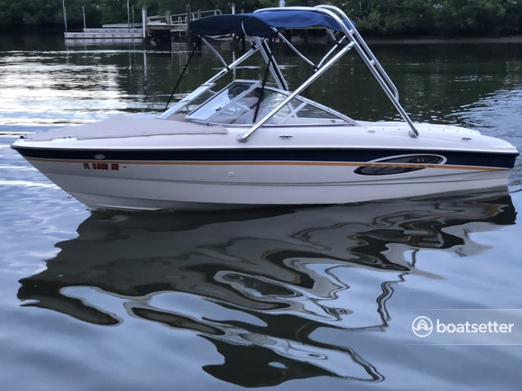 Rent a Bayliner bow rider in New Smyrna Beach, FL near me