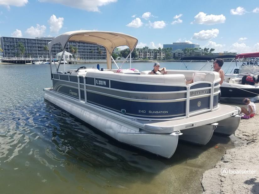 Rent a Premier Marine pontoon in St. Petersburg, FL near me