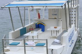 22 ft. Custom Craft Executive 18 Jet Catamaran Boat Rental Cabo Image 5