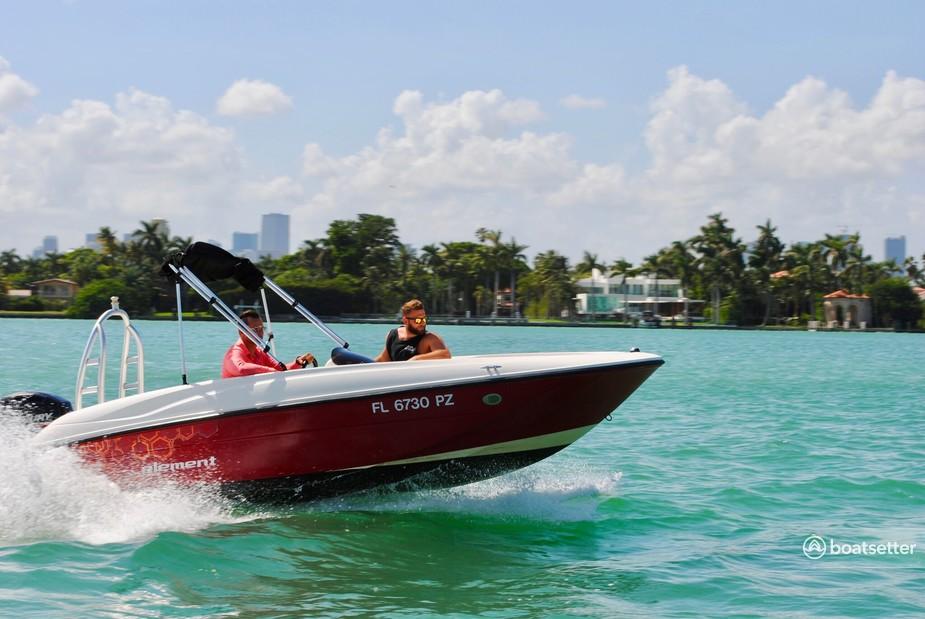 Rent a Bayliner cruiser in Key Biscayne, FL near me