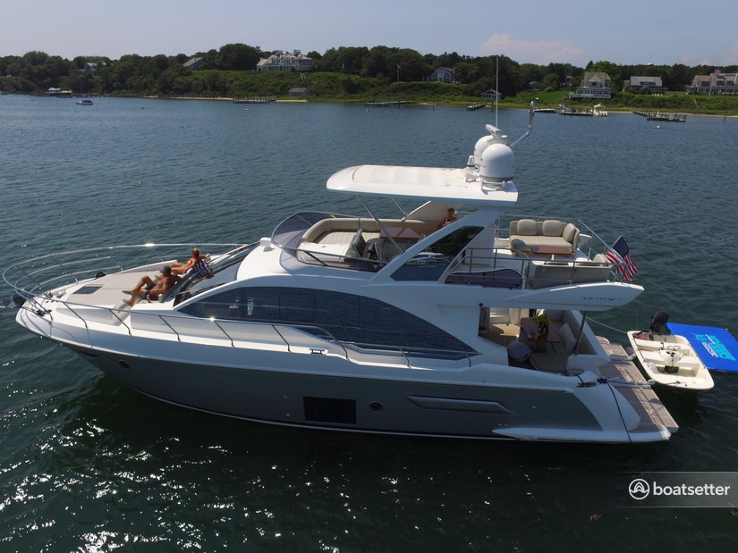 Rent a Azimut Yachts flybridge in Hull, MA near me