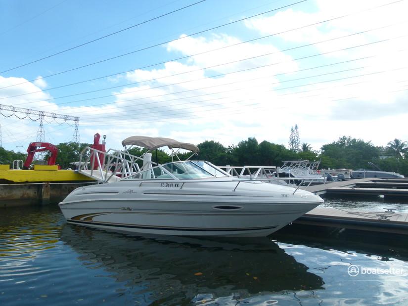 Rent a Sea Ray Boats express cruiser in Dania Beach, FL near me