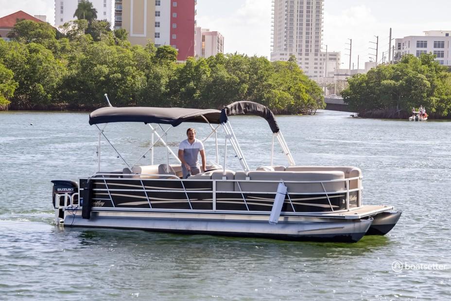 Rent a  pontoon in Sunny Isles Beach, FL near me
