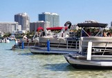 24 ft. Leisure Pontoons 2423 Navigator Deck Boat Boat Rental Miami Image 2