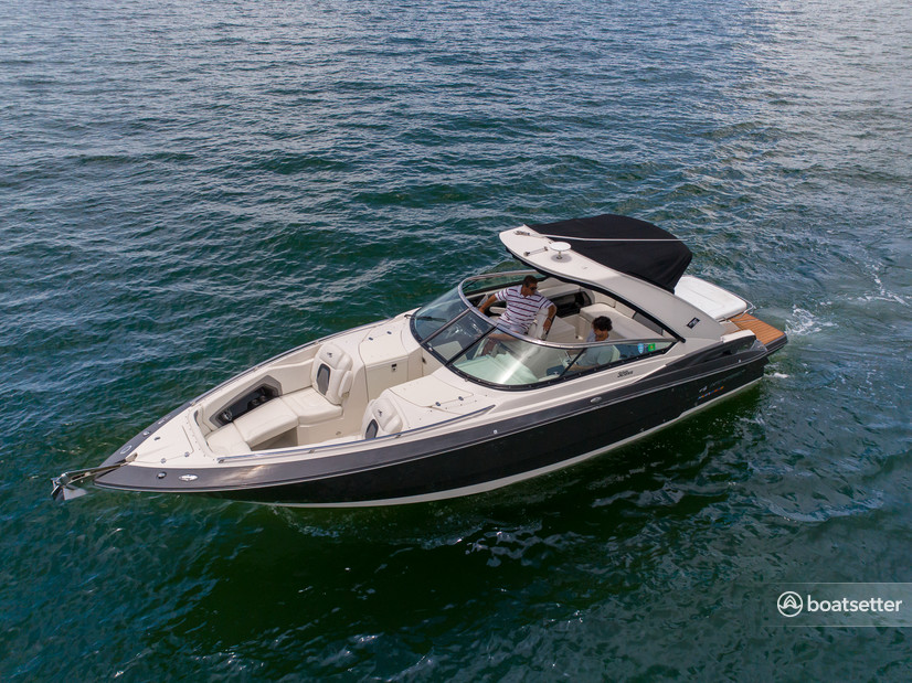 Rent a Monterey Boats express cruiser in Key Biscayne, FL near me