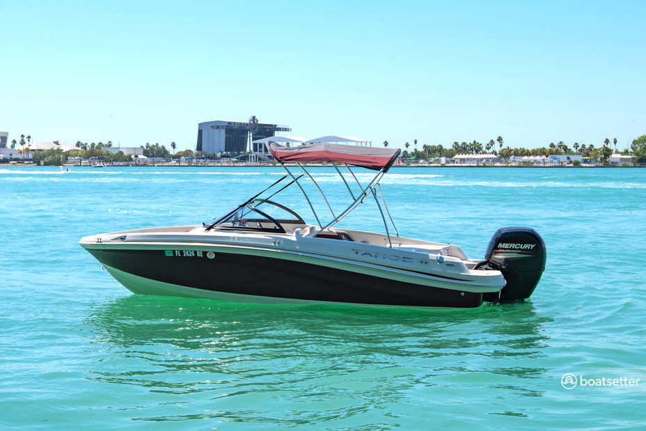 Rent a Tahoe by Tracker Marine bow rider in Key Biscayne, FL near me