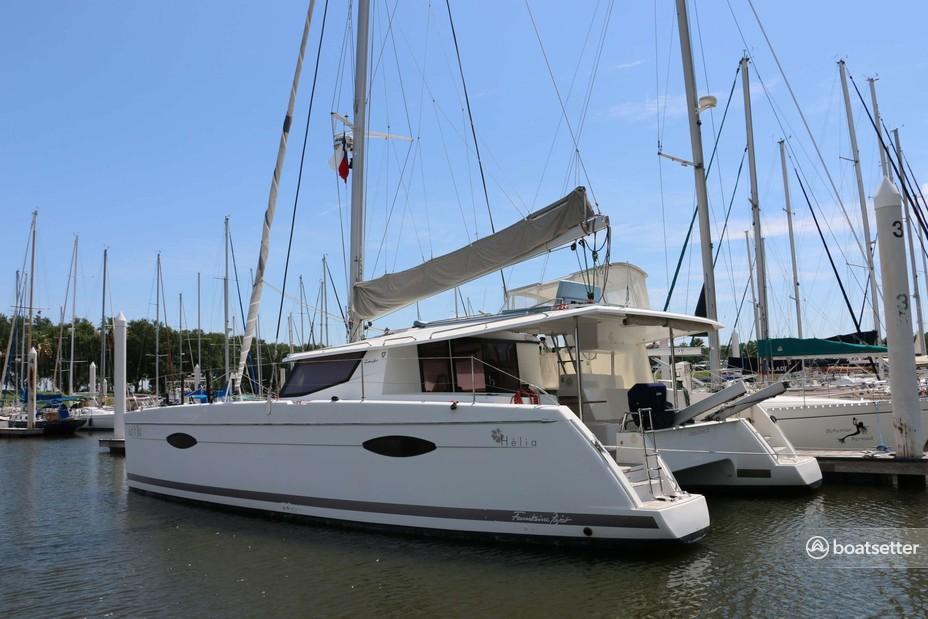 Rent a Fountaine Pajot catamaran in Kemah, TX near me