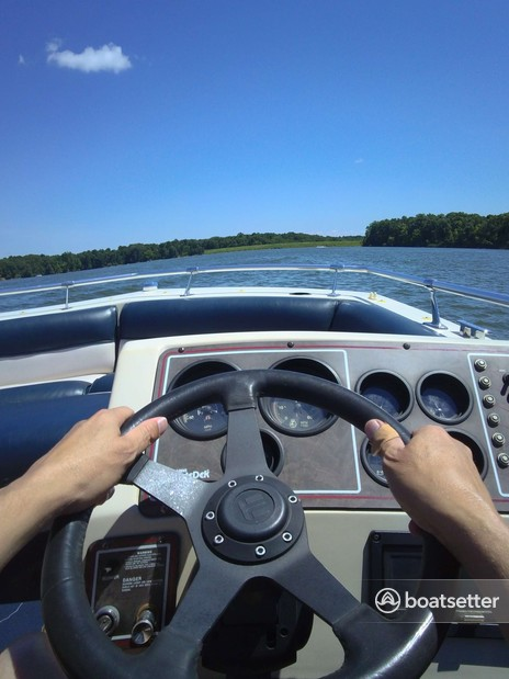 Rent a Harris FloteBote deck boat in Sullivan Township, IL near me